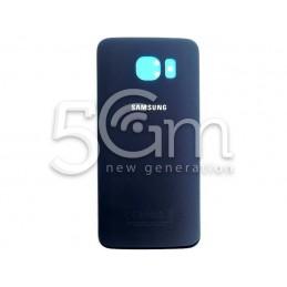 """Retro Cover Blu Scuro + Adesivo Guarnizione Samsung SM-G920 """"X Ver Nero ori"""