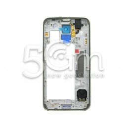 Samsung G900F Full Silver Middle Frame