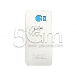 Retro Cover Bianco + Adesivo Guarnizione Samsung SM-G925 S6 Edge Ori