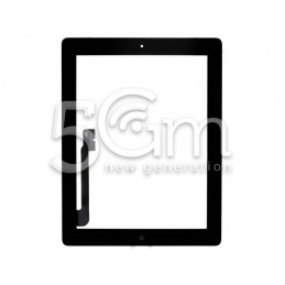 Touch Screen Nero + Adesivo + Tasto Home Completo iPad 3 No Logo