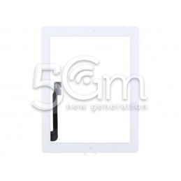 Touch Screen Bianco + Adesivo + Tasto Home Completo iPad 3 No Logo