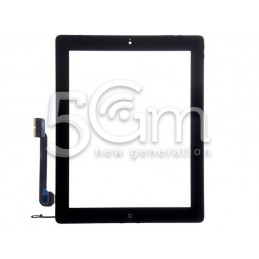 Touch Screen Nero + Tasto Home Completo + Adesivo iPad 4