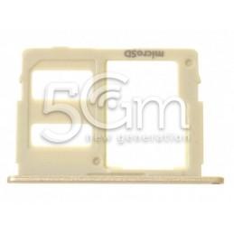 Holder Dual Sim card/SD Card Gold SM-J530