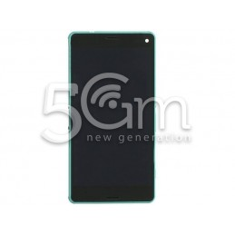 Xperia Z3 Compact Full Black Touch Display + Green Frame