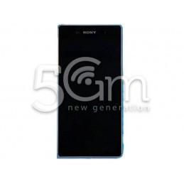 "Xperia Z3+ Dual E6533 Black Touch Display + ""Aqua Green"" Frame"
