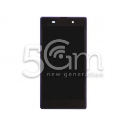 Display Touch Nero + Frame Purple Xperia Z1 L39h