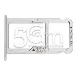 Sim Card Holder + Micro SD Silver Huawei  Mate 9