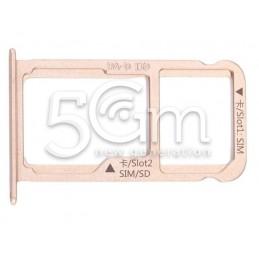 Sim Card Holder + Micro SD Gold Huawei  Mate 9