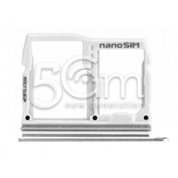 Sim Card Holder + Micro SD Silver  LG G6 H870