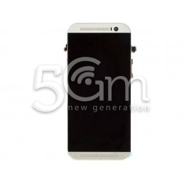 Display Touch Nero + Frame HTC M8 X Versione Bianco