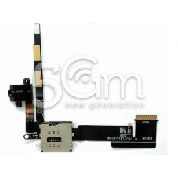 Ipad 2 Jack Audio + 3G Sim Card Reader Flat Cable No Logo