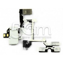 Flat Cable Bianco Jack Iphone 4g