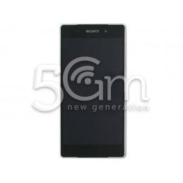 Display Touch Nero + Frame Bianco Xperia Z2 D6503 Ori