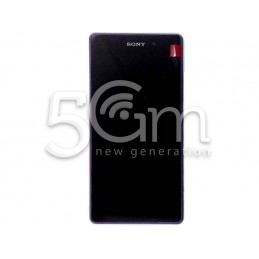Xperia Z2 D6503 Black Touch Display + Purple Frame