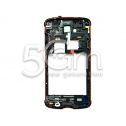 Middle Frame Blu Scuro Completo Samsung i9295 S4 Active