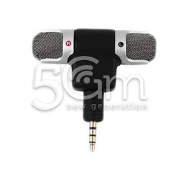 Mini Microfono Stereo Jack Audio