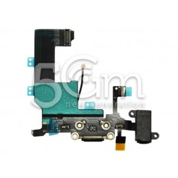 Iphone 5c Black Charging Connector Flex Cable No Logo