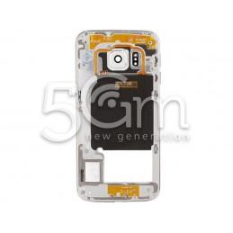 Samsung SM-G925 S6 Edge Full Silver-White Middle Frame