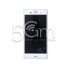 Xperia Z3 Dual Sim D6633 White Touch Display + Frame