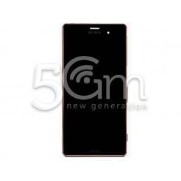 Xperia Z3 Dual Sim D6633 Black Touch Display + Copper Frame