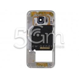 Samsung SM-G925 S6 Edge Full Dark Silver Middle Frame