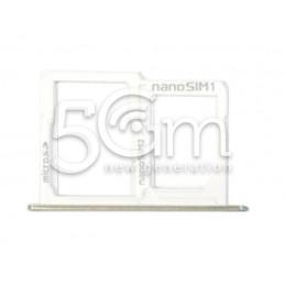 Supporto Sim Card/SD Card Bianco LG X Power K220