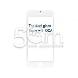Vetro Bianco Con Pellicola Oca + Frame iPhone 8
