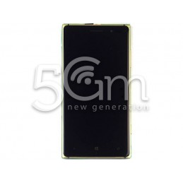Nokia 830 Lumia Black Touch Display + Frame for Gold Version