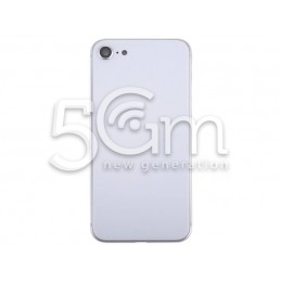 Rear Cover White + Frame iPhone 8