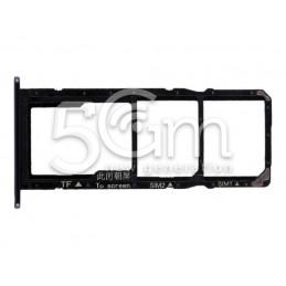 Sim Card + Micro SD Tray Black Huawei Y6 2018