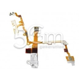 Flat Cable Audio Bianco Iphone 3g