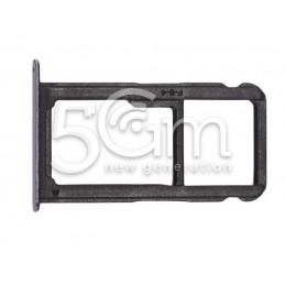 Supporto Sim Card + Micro SD Nero Huawei P10 Lite