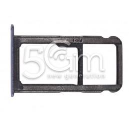 Supporto Sim Card + Micro SD Blu Huawei P10 Lite