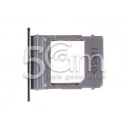Supporto Sim Card Nero Samsung SM-A720F A7 2017