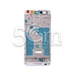 Frame Lcd White Huawei Y7 Prime