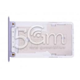 Supporto Dual Sim + Micro SD Bianco Xiaomi Redmi Note 4X