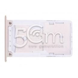 Supporto Dual Sim + Micro SD Gold  Xiaomi Redmi Note 4X