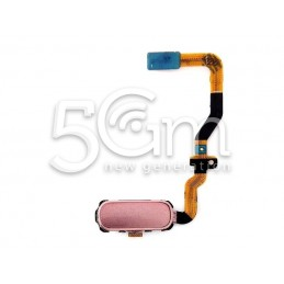 Tasto Home Pink Gold + Flat Cable SM-G930 S7