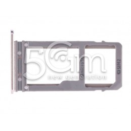 Micro SD + Dual Sim Tray Gold Samsung SM-A720F A7 2017