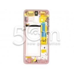 Frame Lcd  Pink Samsung SM-A530 A8 2018