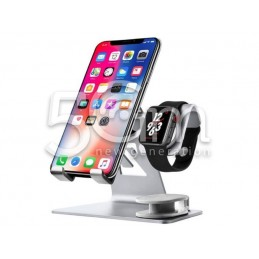 iWatch iPhone Aluminum Stand Base Silver