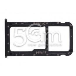 Sim Card Tray + Micro SD Tray Black Huawei Mate 10 Lite