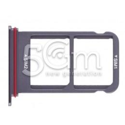 Sim Card + Micro SD Tray Silver Huawei Mate 10 Pro