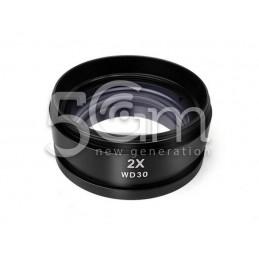 Lente Di Ingrandimento Per Microscopio Zoom 2X 48MM WD30