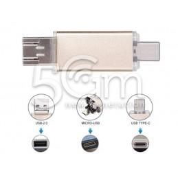 64GB 3 in 1 USB-C - Type-C...