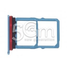 Sim Card + Micro SD Tray Aurora Blue Huawei P30