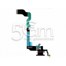 Connettore Di Ricarica Flat Cable Nero iPhone X No Logo