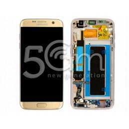 Display Touch Gold + Frame Samsung SM-G935 S7 Edge Ori