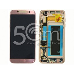 Display Touch Pink-Gold + Frame Samsung SM- G935 S7 Edge