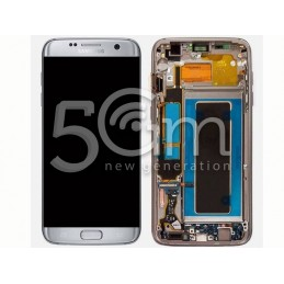 Display Touch Silver + Frame Samsung SM- G935 S7 Edge
